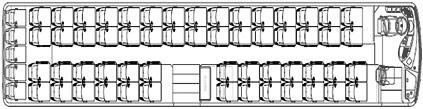 Mercedes Travego 3 Assi pianta